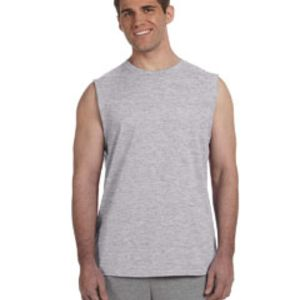 Adult Ultra Cotton® 6 oz. Sleeveless T-Shirt Thumbnail