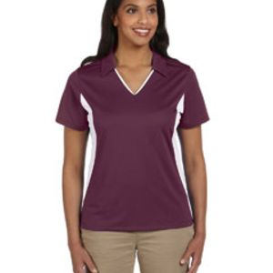 Ladies' Side Blocked Micro-Piqué Polo Thumbnail